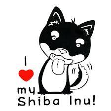 2020 16 12 4cm I Love My Shiba Inu Decal Sticker Funny Car Window Bumper Novelty Jdm Drift Vinyl Decal Sticker From Xymy777 2 12 Dhgate Com
