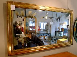 a brass framed bistro mirror france c