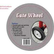 Tarter Single Gate Wheel 7 In Zinc Gate Hardware Kit In The Gate Hardware Department At Lowes Com