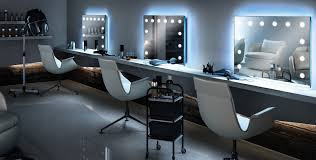 beauty parlour with lights for salons