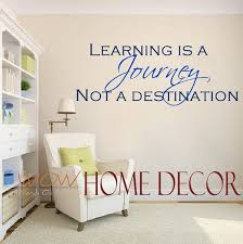 Vinyl Wall Art Decal Learning Is A Journey Inspirational Etsy School Wall Art Vinyl Wall Art Decals Classroom Walls