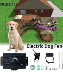 Safety Pet Dog Electric Fence With Waterproof Dog Electronic Training Collar Buried Electric Dog Fence Containment System Petstoreworld