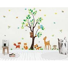 Nursery Wall Decals Forest Nursery Decals Woodland Nursery Stickers For Baby Room Wall Decals For Kids Baby Boy Decals Baby Shower Gift