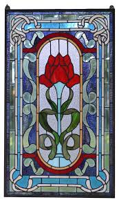 handcrafted stained glass window panel