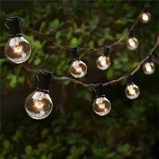 string lights with 25 g40 globe bulbs