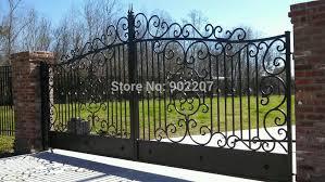 8 Ft Metal Gate Exterior Metal Gates Cast Iron Garden Gates For Sale Wrought Iron Gate Driveway Gateiron Gate Aliexpress