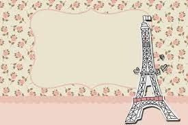 Paris Con Rosas Invitaciones Para Imprimir Gratis Invitaciones
