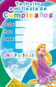 Invitaciones Cumpleanos Princesas Disney Enredados Jpg 1040 1600