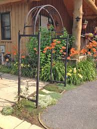 wrought iron skyview arbor trellis