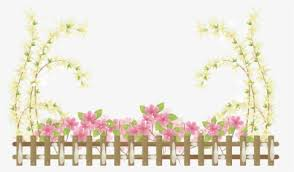 Garden Border Png Flower Fence Transparent Background Png Download Kindpng