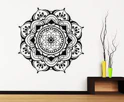 Mandala Decals Mehndi Vinyl Sticker Bedroom Wall Decal Etsy
