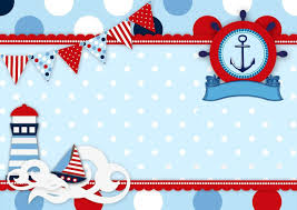 Nautica Baby Boy Cumpleanos Marinero Invitaciones Nauticas