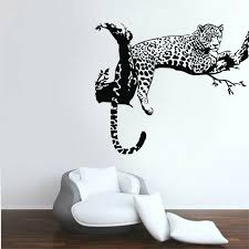 Leopard Animals Wall Stickers Vinyl Wall Decals Kids Room Home Decor Removable Ebay