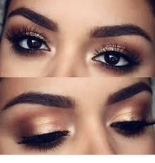dark eyes and gold makeup inspiring