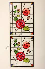 stained glass window sticker decal