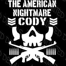 Cody Rhodes American Nightmare Decal Njpw Roh Ring Honor Bullet Club Villain Nightmare Cody Cody Rhodes