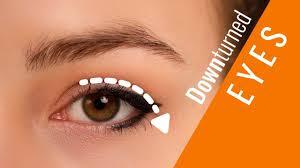 makeup on downturned eyes you
