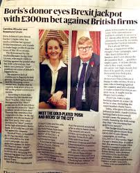 """Alex Andreou on Twitter: """"Crispin Odey, Brexit backer and Johnson donor,  bets £300m in short positions against UK firms. Same man made £200m betting  against sterling in 2016. And Johnson has the"""