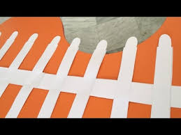 How To Make Paper Fence Paper Craft Youtube