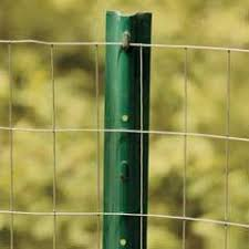 Erecting A Wire Fence At The Home Depot Metal Fence Posts Wire Fence Metal Fence