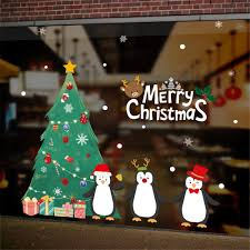 Diy White Snow Christmas Wall Stickers Window Glass Festival Decals Sale Price Reviews Gearbest