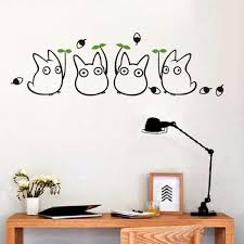 My Neighbor Totoro Cute Wall Decals Ghibli Store