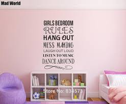 Girls Bedroom Rules Nursery Dance Music Laugh Wall Art Stickers Wall Decals Home Diy Decoration Removable Decor Wall Stickers Wall Sticker Decorative Wall Stickerswall Art Stickers Aliexpress
