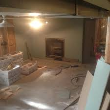 basement remodeling new gas fireplace