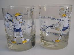 vintage georges briard glass tumbler