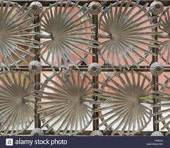 Detail Of Palm Leaf Fence In Parc Guell Designed By Antoni Gaudi Stock Photo Alamy
