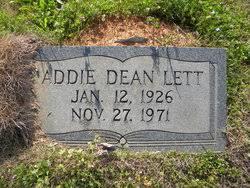 Addie Dean Lett (1926-1971) - Find A Grave Memorial