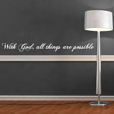 All Things Possible Quote Wall Decal Wall Decal World