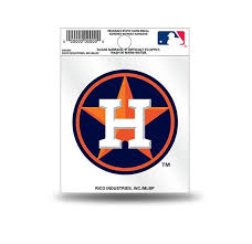 Houston Astros Circle Logo Static Cling Sticker Decal New Window Or Hub City Sports