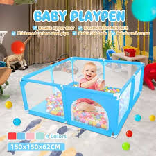 Best Promo 451ea6 150x150x62cm Baby Playpen Fence Play Yard For Children Infants Safety Barrier Game Tent For Newborn Baby For Baby Pool Playpen Cicig Co