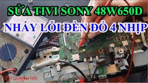 Hướng dẫn và chia sẻ cách sửa tivi sony 48w650D báo lỗi đèn đỏ 4 ...
