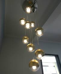 chrome glass ball pendant lights
