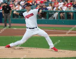 Cleveland Indians starting pitcher Adam Plutko delivers Editorial ...