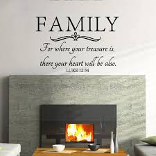 Free Shipping Family Wall Quote Bible Wall Decal Stickers Where Your Treasure Is There Your Heart Will Be Decals Iphone Stickers Leavesstickers Fiat Aliexpress