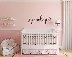 Wall Decal Nursery Name Wall Decal Name Decal Monogram Etsy