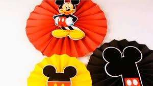 Como Hacer Rosetones De Mickey Mouse Youtube