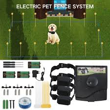 New Electric Dog Fence Waterproof Dog Training Collar Sound Shocked Collar Electronic Pet Fence Containment System For 1 2 3 Dog Wish