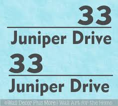 Custom Mailbox Decals Vinyl Stickers Number Address Lettering