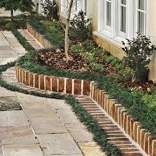 brick border for a garden courtyard