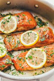 pan seared salmon with lemon er