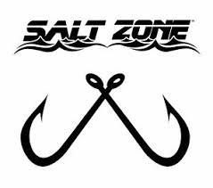 Salt Zone Logo Window Decal Sticker Reel Life Hooks Fishing Saltwater Rod Ebay