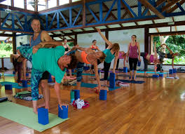 yogi aaron yoga teacher blue