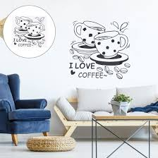 Shop I Love Coffee Self Stick Wall Stickers Artificial Decal For Bedroom Black Overstock 29446350