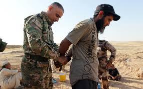 شاهد صور دواعش بالسلاسل في قبضة قوات البيشمركة
