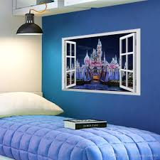 Fantasy Princess Prince Castle D Window View Wall Sticker Decal Independence