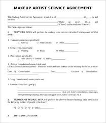 makeup artist contract template pdf